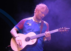 Ed Sheeran supporting the Icelandic national football team